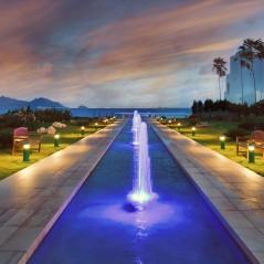 Beach Bar walkway at sunset, CuisinArt Golf resort & Spa
