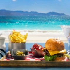 The CuisinArt Burger at The Beach Bar,, CuisinArt Golf Resort & Spa, Anguilla