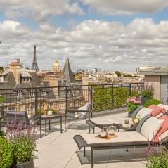Hotel Lutetia - Suite Penthouse Saint-Germain by Coppola - Terrasse 2 (Crédit Anthony Parkinson)