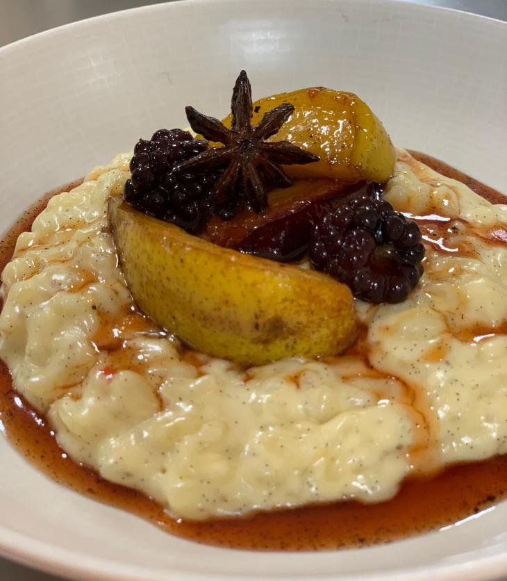 Stevie McLaughlin's Creamed Vanilla Rice With Spiced Autumn Fruits